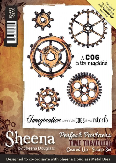 Sheena Douglass Perfect Partners Time Traveller - Geared Up Stamp
